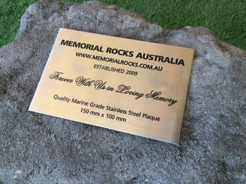 Quality Marine Grade Stainless Steel Memorial Plaque 150 mm x 100 mm