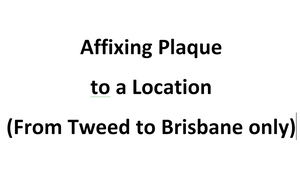 Affixing Plaque to a Location