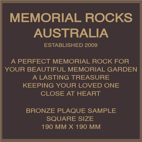 Quality Bronze Plaque 190mm x 190mm