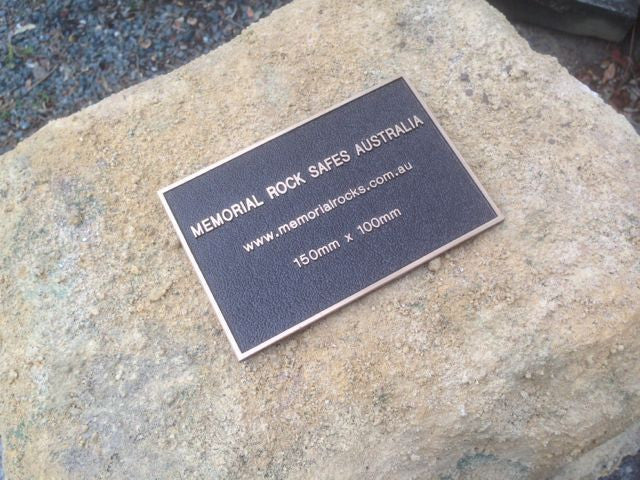 Memorial Rock Plaque 150mm x 100mm