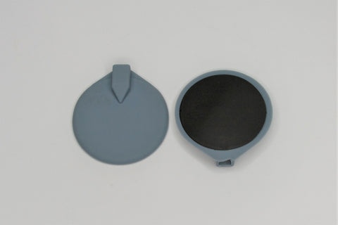 60 mm Round Silicone Grey (pair)