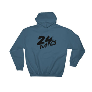 24 Money Gang Black Double Logo Hoodie