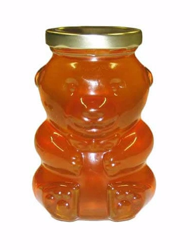 13oz Glass Bear Jars (with plastic caps)