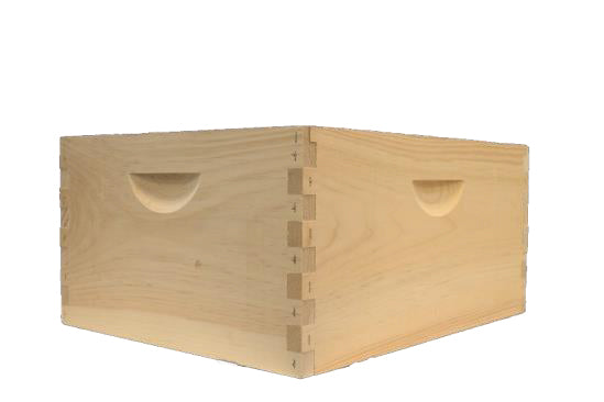 Deep Brood Box with Frames- Assembled, Plastic Foundation
