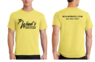 Wood's Beekeeping - Short Sleeved Tee - Yellow
