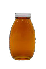 1lb Classic Honey Jars case of 24 (with plastic caps)