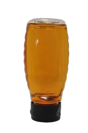 12oz Inverted Plastic Squeeze Jars - case of 24