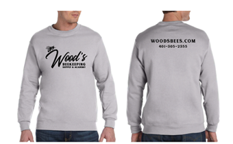Wood's Beekeeping - Crew Neck Sweater - Grey