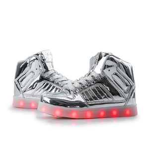 Flashez LED Silver V2 Hi-Tops