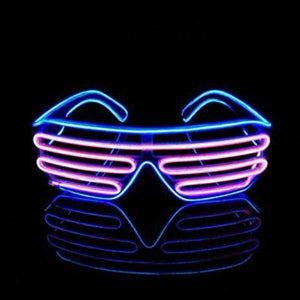El Wire Shutter Glasses - Purple/turquoise - Glasses