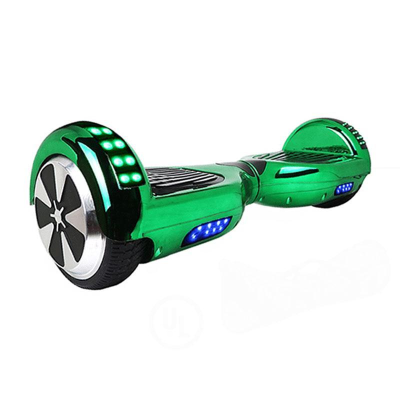Chrome Green LED Hoverboard