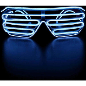 El Wire Shutter Glasses - White - Glasses