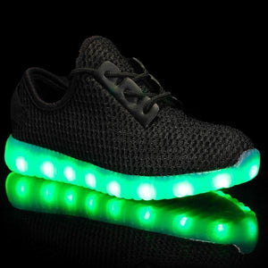 Flashez LED Footwear - Flash Wear LED Black Flyers