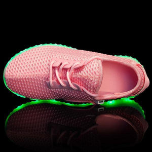 Flashez LED Footwear - Flash Wear LED Pink Flyers