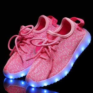 Flashez LED Footwear - Flashez Infants Pink - L.E Deezy Shoes