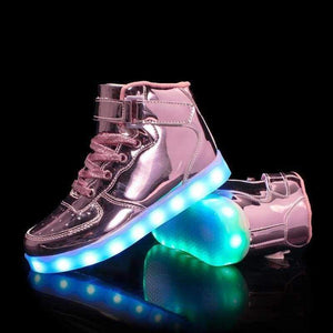 LED Shoes - Flash Wear Rose High-Tops