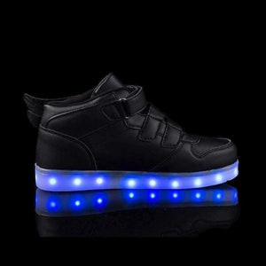 LED Shoes - Flashez Black - LED Thunder Kids Shoes