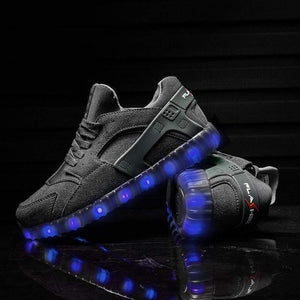 LED Shoes - Flashez Grey Hurricanes