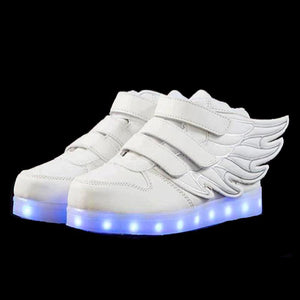 LED Shoes - Flashez Kids White - LED Thunder Shoes
