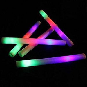 Led Sticks - Flashing LED Multi Coloured Foam Sticks X 5