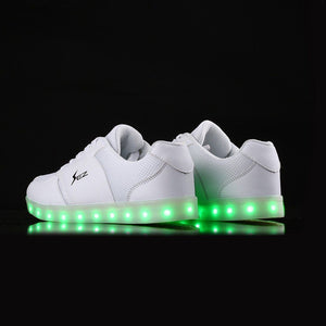 Flashez Light Up Edm Trainers - White - Flashez Official Shoes