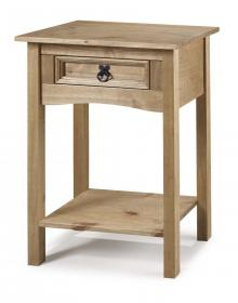 Corona Console Table with 1 drawer and shelf