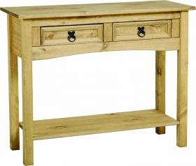 Corona Console Table with 2 drawers and shelf
