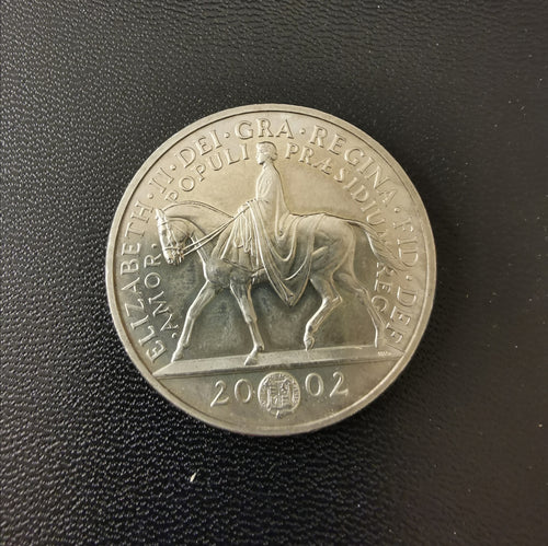 2002 five pounds coin
