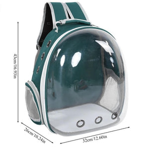 Dog Cat Breathable Small Pet Travel Backpack Carrying Cage
