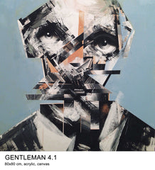 "Bohdan Burenko ""Gentleman 4.1"" Original work on Canvas"