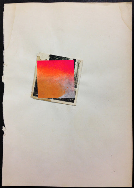 "Poesia Mix Media Collage ""A Letter Study"" 7 x 9 1/2 Inch on Paper"