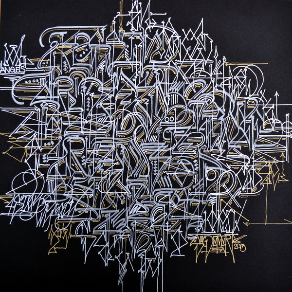 "Defer Original Work on Paper ""7th Element"" from ""Concrete Alphabets"" Group Exhibition"