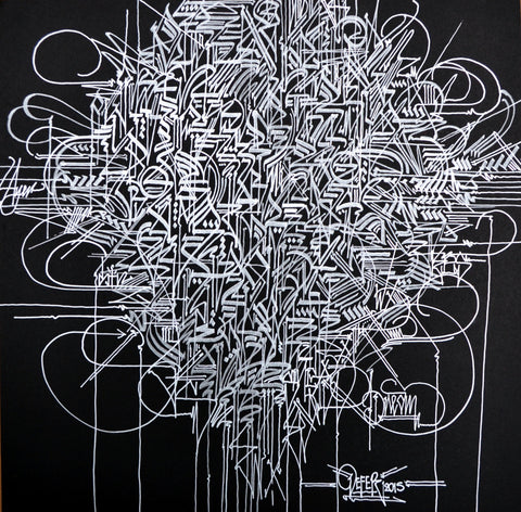 "Defer Original Work on Paper ""The Cypher"" from ""Concrete Alphabets"" Group Exhibition"