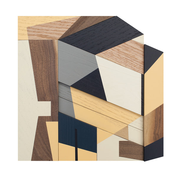 "Drew Tyndell Original Work on Wood ""Abstract House Study 7"""