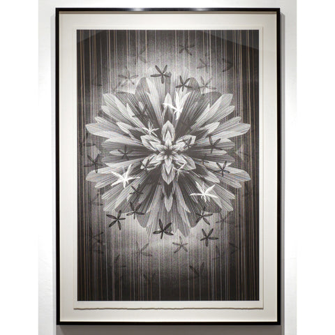 "Kai & Sunny ""Star Flower"" Original work on paper Framed"