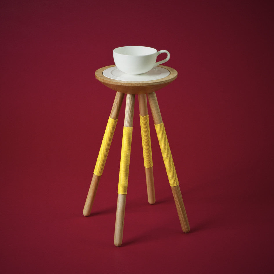 TEA FOR ONE TABLE IN YELLOW