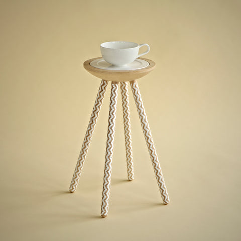 TEA FOR ONE TABLE WITH ZIGZAG (LIMITED EDITION)