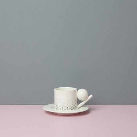 GEOMETRIC CUP & SAUCER / PATTERN 1