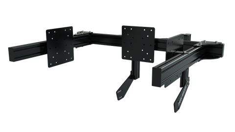 TR8020 Black Aluminium Add-on Arms for Triple Monitor Stand with VESA Mounts