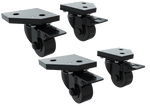 Trak Racer TR8020 Caster Wheels with Brake and Mounting Brackets (Set of 4)