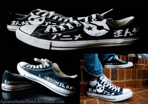 Fan creates boomslank style shoe