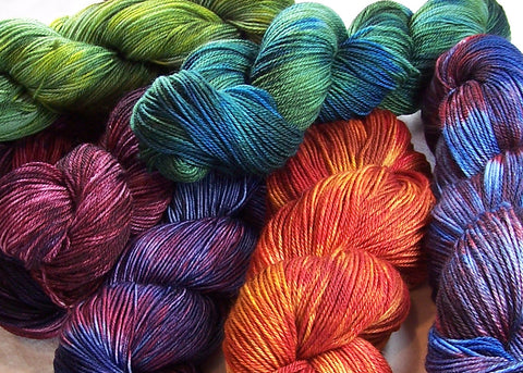 Hand Dyed Yarn by Intrepid Tulips