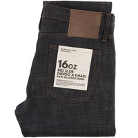 UB173 Skinny Fit 16oz Slubby Selvedge Denim with Khaki Weft - MAIN