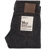 UB273 Tapered Fit 16oz Slubby Selvedge Denim with Khaki Weft - main