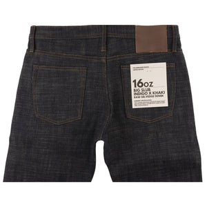 UB273 Tapered Fit 16oz Slubby Selvedge Denim with Khaki Weft - back