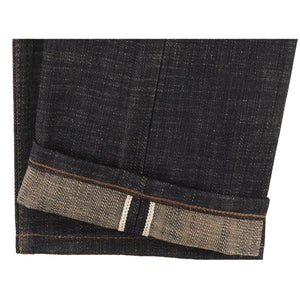 UB273 Tapered Fit 16oz Slubby Selvedge Denim with Khaki Weft - hem