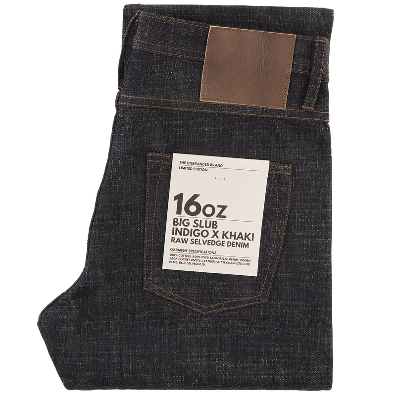 UB373 Straight Fit 16oz Slubby Selvedge Denim with Khaki Weft - main