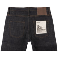 UB373 Straight Fit 16oz Slubby Selvedge Denim with Khaki Weft - back