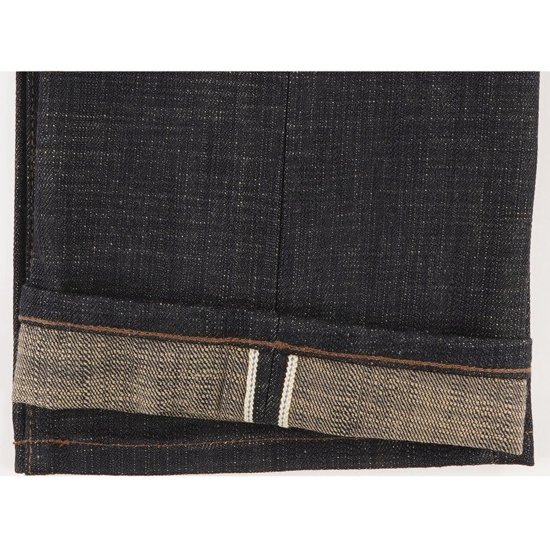 UB373 Straight Fit 16oz Slubby Selvedge Denim with Khaki Weft - hem