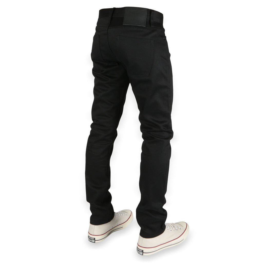 UB455 Tight Fit Black Chino Selvedge